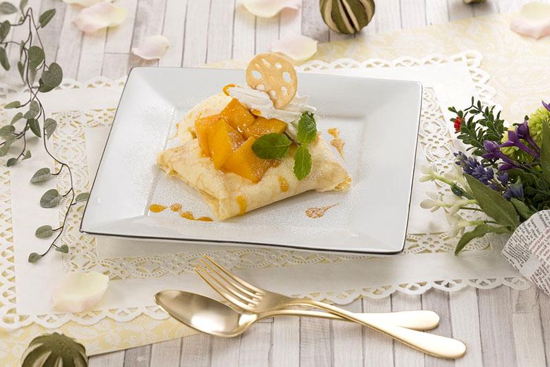 マンゴークレープ♥~超濃厚バニラアイス添え~