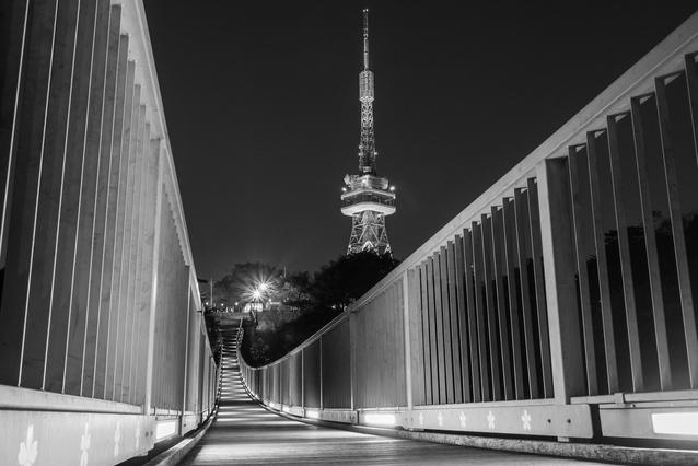 夜の宇都宮タワー